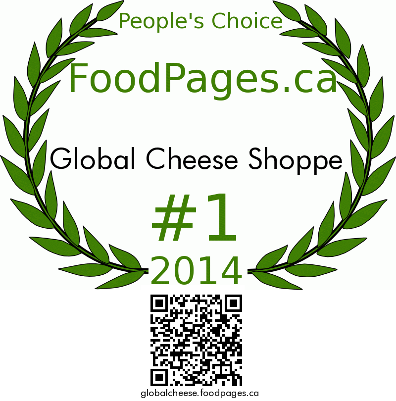 Global Cheese Shoppe FoodPages.ca 2014 Award Winner